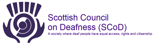 Logo for the Scottish Council on Deafness
