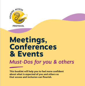 Cover of Hearing Access Protocol booklet