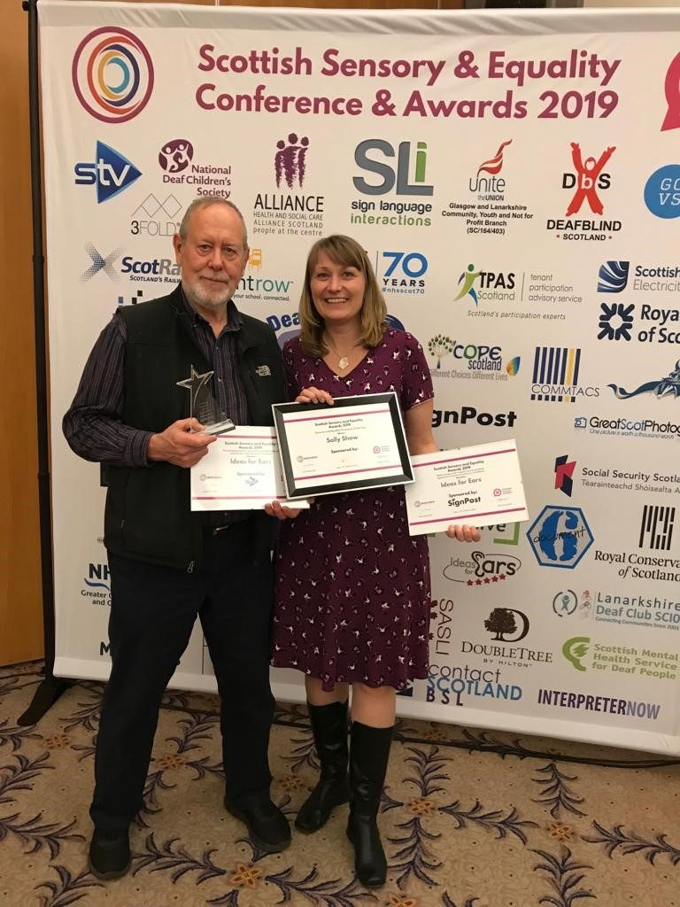 Sally Shaw:  Scottish Sensory and Equality Champion of the Year