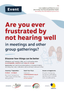 Forth Valley event: Do you want to hear better in meetings and group gatherings?