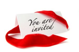 A card that says You are Invited