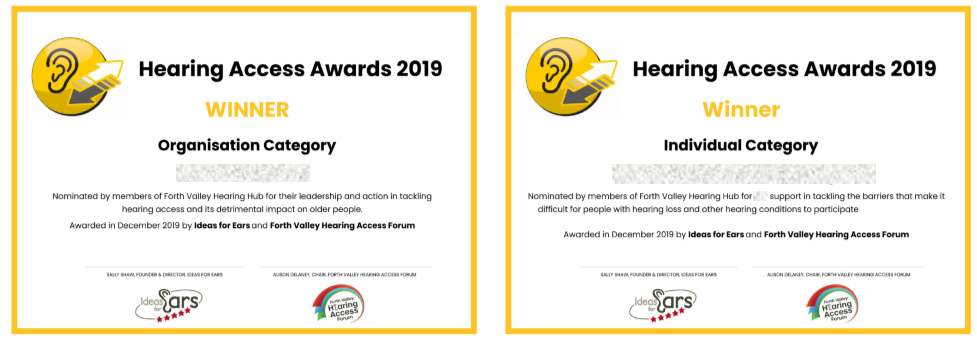 2 certificates, one for the organisation category, the other for the individual category